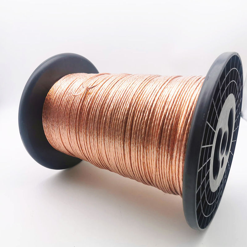 High Frequency Copper Litz Wire Silk Covered Enameled 0.3mm * 170 Strands